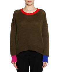Marni - Green Crewneck Long-sleeve Cashmere Knit Sweater - Lyst