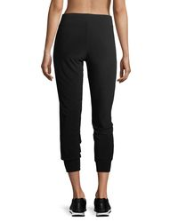 Norma Kamali - Black Pull-on Stretch-jersey Jogger Pants - Lyst
