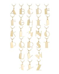Sydney Evan - Metallic Pure Initial Charm Necklace - Lyst