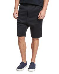 Vince - Black Drop-rise Shorts for Men - Lyst