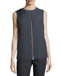 Lafayette 148 New York - Black Bailey Alpine Outerwear Vest - Lyst