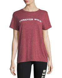 Spiritual Gangster - Red Rec Forever Wild Short-sleeve Jersey Tee - Lyst