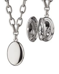 Monica Rich Kosann - Metallic Premier Sterling Silver Locket Necklace - Lyst