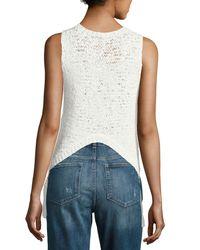 A.L.C. - White Carmelita Sleeveless Crochet Tassel Top - Lyst