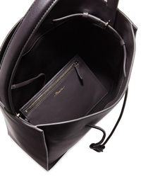 3.1 Phillip Lim - Black Soleil Large Leather Drawstring Bucket Bag - Lyst