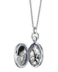 Monica Rich Kosann - Metallic Mother-of-pearl Petite Stone Silver Locket Necklace - Lyst