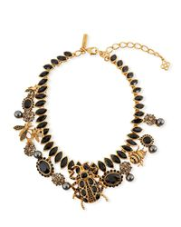Oscar de la Renta - Multicolor Wildlife Statement Necklace - Lyst