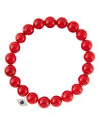 Sydney Evan | Red Design Your Own Bracelet (made To Order) | Lyst