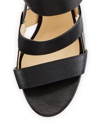 Jimmy Choo - Black Maya Leather 85mm Sandal - Lyst