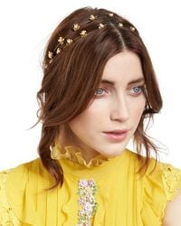 Jennifer Behr - Metallic Julia Swarovski® Pearl Bandeau Headband - Lyst