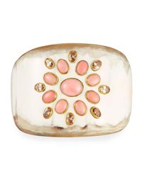 Ashley Pittman - Multicolor Bendi Light Horn Coral Cuff Bracelet - Lyst