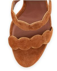 Tabitha Simmons - Brown Cirrius Suede Three-strap Sandal - Lyst
