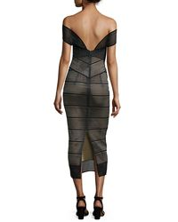 Rachel Gilbert - Black Stretch-bandage Midi Dress - Lyst