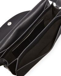 Givenchy - Black Infinity Chain-trim Saddle Bag - Lyst