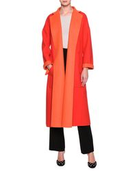 Giorgio Armani - Red Double Face Two Tone Coat - Lyst