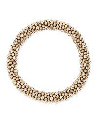 Meredith Frederick - Metallic Beth 14-karat Gold And Silver Bead Bracelet - Lyst