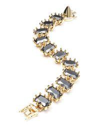 Eddie Borgo - Black Small Rectangle Estate Bracelet - Lyst