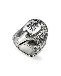 Gucci - Metallic Men's Eagle Head Sterling Silver Ring - Lyst