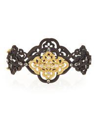 Armenta - Metallic Old World Scroll Bracelet With Diamonds - Lyst