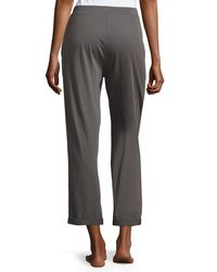 Skin - Gray Pajama Cropped Pants - Lyst