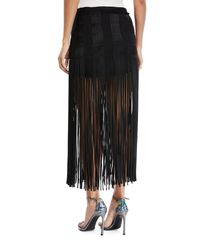 Monse Black Spaghetti-fringe Midi Skirt