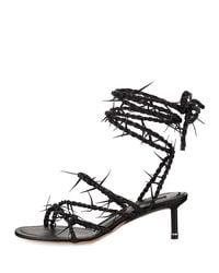 Alexander Wang - Black Kiki Barbwire Runway Sandal - Lyst