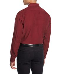 Brioni - Red Corduroy Sport Shirt for Men - Lyst
