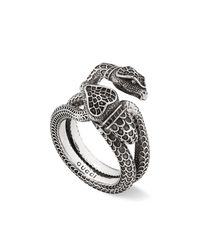 Gucci - Metallic Men's Engraved Snake Ring for Men - Lyst