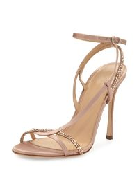 Sergio Rossi   Multicolor Lexington 105mm Strappy Crystal-embellished Satin Sandal   Lyst