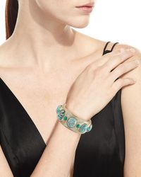 Ashley Pittman - Blue Michezo Light Horn & Turquoise Bangle - Lyst