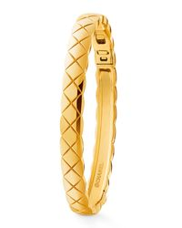 Chanel | Metallic Coco Crush Bracelet In 18k Yellow Gold | Lyst