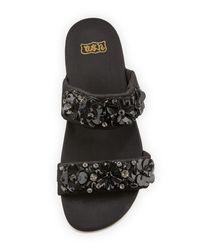 Ash - Black Oman Floral Slide Sandal - Lyst