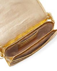 Nancy Gonzalez - Convertible Metallic Chain-trim Crocodile Flap Bag - Lyst
