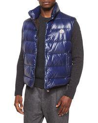 Moncler | Blue Tib Puffer Vest for Men | Lyst