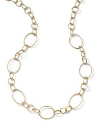 Ippolita - Metallic 18k Gold Glamazon Link Necklace With Seven Ovals - Lyst