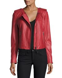 Joie - Red Koali Leather Jacket - Lyst