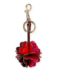 Anya Hindmarch - Red Folded Heart Leather Key Chain - Lyst