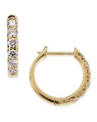 Jude Frances - Metallic Pavé Diamond Hoop Earrings In 18k Gold - Lyst