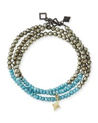 Armenta - Multicolor Old World 18k Beaded Wrap Bracelet - Lyst