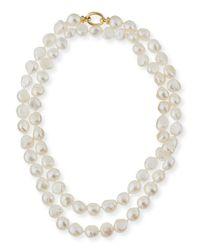 Grazia And Marica Vozza   White Baroque Pearl Necklace   Lyst