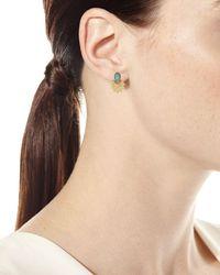 Armenta - Multicolor Old World 18k Starburst Aquaprasetm Stud Earrings - Lyst
