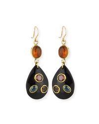 Ashley Pittman | Multicolor Ukali Dark Horn Drop Earrings | Lyst