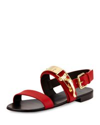 Giuseppe Zanotti - Red Mens Ski-Buckle Leather Strap Sandal for Men - Lyst