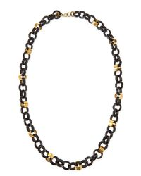 Ashley Pittman | Metallic Jinsi Dark Horn Round Chain Necklace | Lyst