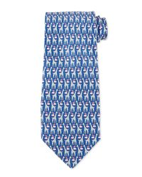 Ferragamo | Blue Giraffe & Cloud Print Silk Tie for Men | Lyst
