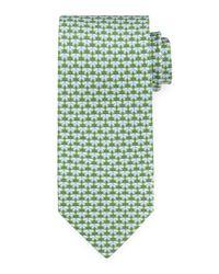 Ferragamo | Green Butterfly-print Silk Tie for Men | Lyst