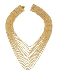 Auden | Metallic Leighton Multi-strand Chain Necklace | Lyst