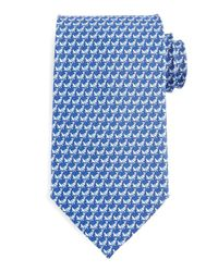 Ferragamo | Blue Cricket-print Silk Tie for Men | Lyst