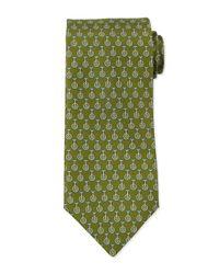 Ferragamo | Green Unicycle-print Silk Tie for Men | Lyst