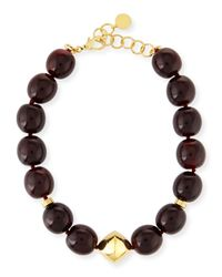 Nest - Red Horn Beaded Station Necklace - Lyst